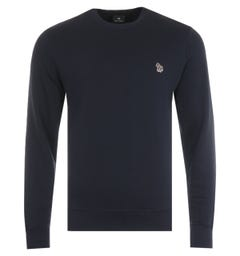 PS Paul Smith Zebra Logo Organic Cotton Sweatshirt - Navy