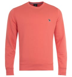 PS Paul Smith Zebra Logo Organic Cotton Sweatshirt - Orange