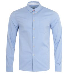 PS Paul Smith Organic Cotton Tailored Fit Shirt - Light Blue