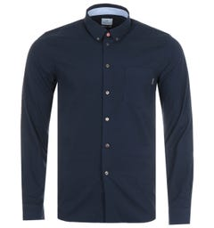 PS Paul Smith Organic Cotton Tailored Fit Shirt - Navy