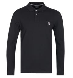 PS Paul Smith Regular Fit Long Sleeve Black Polo Shirt