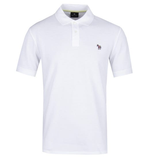 PS Paul Smith Short Sleeve Regular Fit White Polo Shirt