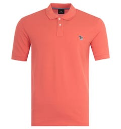 PS Paul Smith Organic Cotton Polo Shirt - Coral