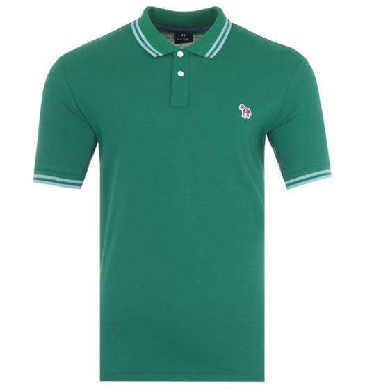 PS Paul Smith Twin Tipped Polo Shirt - Green