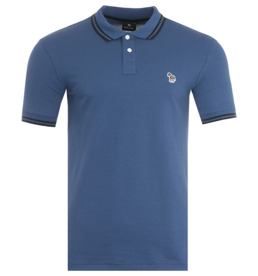 PS Paul Smith Twin Tipped Polo Shirt - Blue