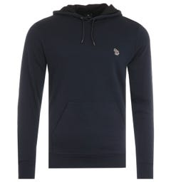 PS Paul Smith Zebra Logo Organic Cotton Hooded Sweatshirt - Navy