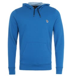 PS Paul Smith Zebra Logo Organic Cotton Hooded Sweatshirt - Cobalt Blue
