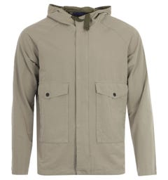 PS Paul Smith Cotton Linen Hooded Jacket - Khaki
