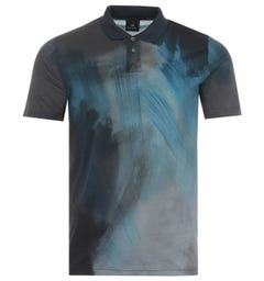 PS Paul Smith Paint Stroke Polo Shirt - Blue