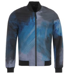 PS Paul Smith Paint Stroke Reversible Bomber Jacket - Black & Blue