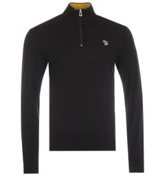 PS Paul Smith Zebra Logo Funnel Neck Sweater - Black