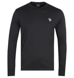 PS Paul Smith Long Sleeve Zebra Logo Black T-Shirt