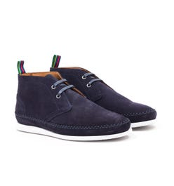 PS Paul Smith Neon Suede Leather Boots - Navy