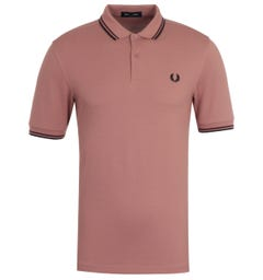 Fred Perry M3600 Twin Tipped Polo Shirt - Plaster & Black