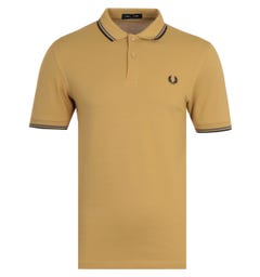 Fred Perry M3600 Twin Tipped Polo Shirt - Gold & Grey