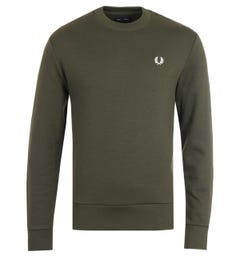 Fred Perry Crew Neck Sweatshirt - Hunting Green