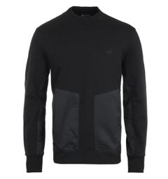 MA.Strum Heavyweight Mock Neck Sweatshirt - Jet Black