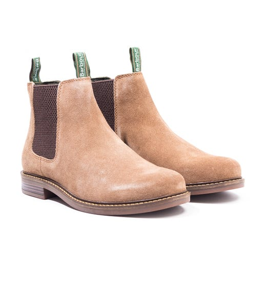 Barbour Farsley Suede Chelsea Boot - Sand
