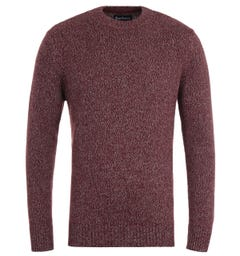 Barbour Sid Crimson Marl Sweater
