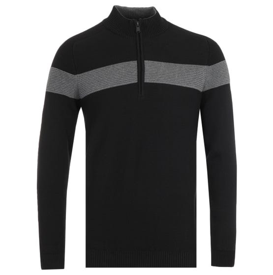 Barbour International Grill Knit Black Sweater