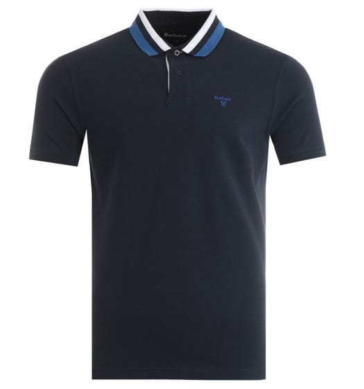 Barbour Hawkeswater Tipped Polo Shirt - Navy