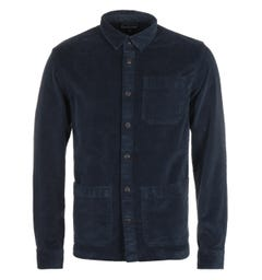 Barbour Cabin Corduroy Navy Overshirt
