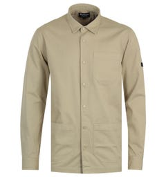Barbour International Worker Overshirt - Washed Stone