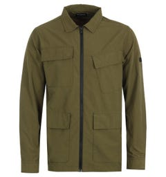 Barbour International Rally Ripstop Overshirt - Vintage Green
