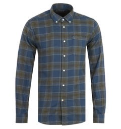 Barbour Highland Check Tailored Navy Shirt