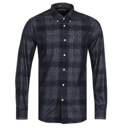 Barbour Cord Tailored Navy Shirt