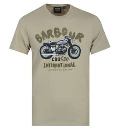 Barbour International Bike T-Shirt - Washed Stone