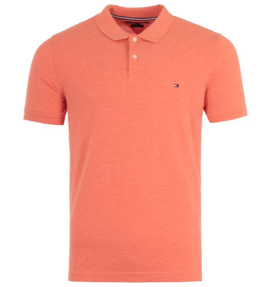 Tommy Hilfiger Heather Slim Fit Polo Shirt - Summer Sunset