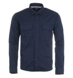 Tommy Hilfiger Tonal Herringbone Relaxed Fit Overshirt - Carbon Navy