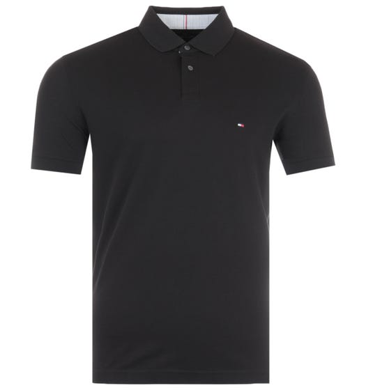 Tommy Hilfiger 1985 Regular Fit Polo Shirt - Black