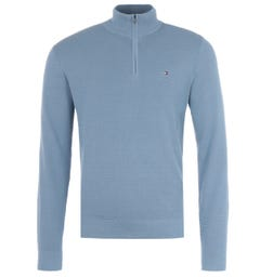 Tommy Hilfiger Quarter Zip Sweater - Colorado Indigo