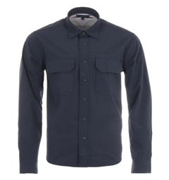 Tommy Hilfiger Stretch Nylon Relaxed Fit Overshirt - Desert Sky