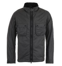 Barbour International Tennant Charcoal Wax Jacket
