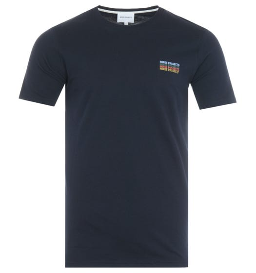 Norse Projects Neils Logo Stack T-Shirt - Navy