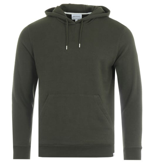 Norse Projects Vagn Hooded Sweatshirt - Beech Green