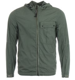CP Company Chrome Recycled Goggle Hooded Overshirt - Wreath Green