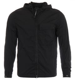 CP Company Chrome Recycled Goggle Hooded Overshirt - Black