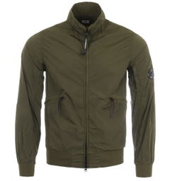 CP Company Chrome Recycled Bomber Jacket - Ivy Green