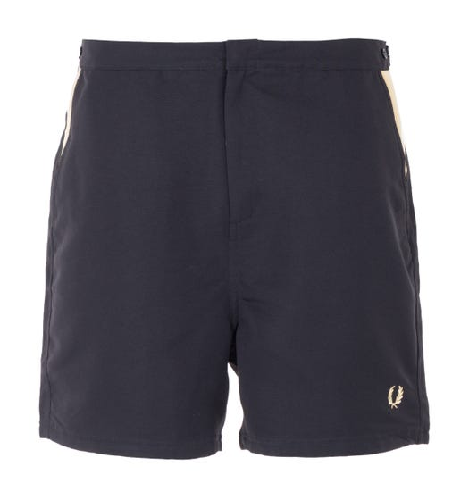 Fred Perry Contrast Panel Swim Shorts - Black