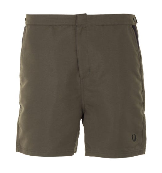 Fred Perry Contrast Panel Swim Shorts - Hunting Green