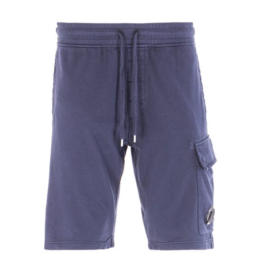 CP Company Cargo Pocket Lens Bermuda Sweat Shorts - Navy