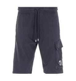 CP Company Cargo Pocket Lens Bermuda Sweat Shorts - Black