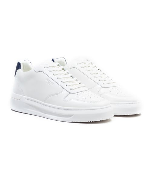 Mallet Hoxton White & Navy Tab Trainers