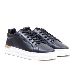 Mallet GRFTR Leather Trainers - Black & Gold