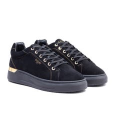 Mallet GRFTR Suede Trainers - Black & Gold