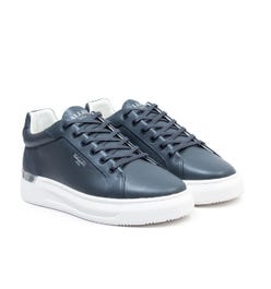 Mallet GRFTR Leather Trainers - Navy
